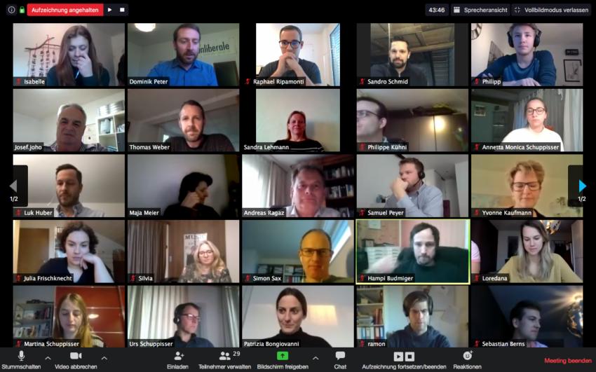 Foto Online Nomination mit Mitgliedern der Grünliberalen Freiamt